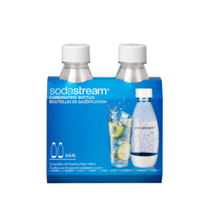 SodaStream™ 1/2L Slim Black Carbonating Bottle Twinpack