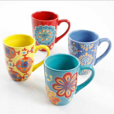 Gibson Boho Chic 4-pc. Coffee Mug
