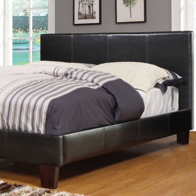 Faux Leather Platform Bed