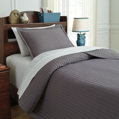 Signature Design by Ashley® Raleda Gray Coverlet Set