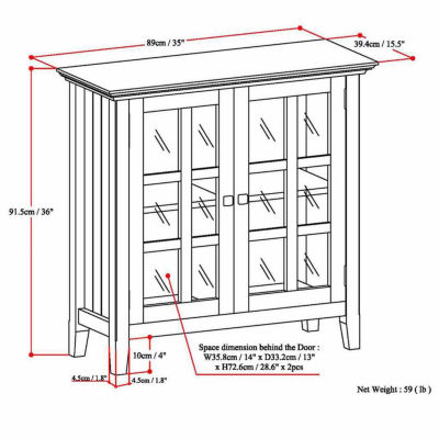 Acadian Low Storage Cabinet