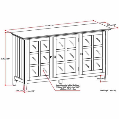 Acadian Wide Storage Cabinet