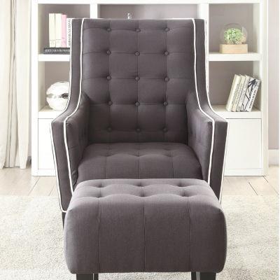 Ophelia Tufted Chair + Ottoman Set