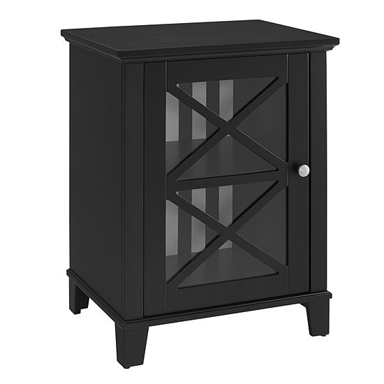 Rapture Awning Stripe Small  Accent Cabinet