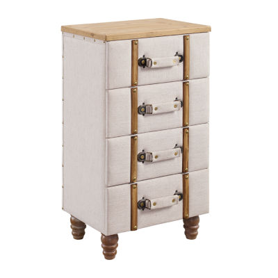 Sarah Four Drawer Padded Accent Cabinet
