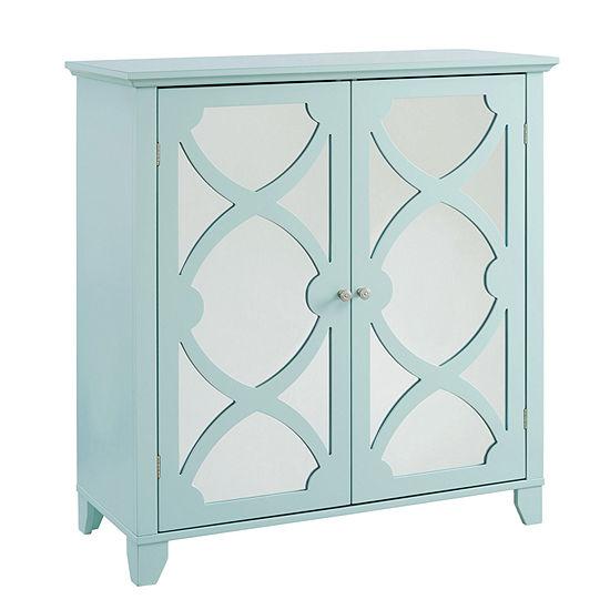 Winter Large Mirror Door Accent Cabinet