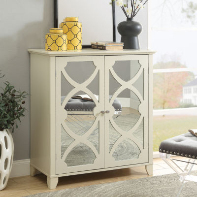 Winter Large Mirror Door Accent Cabinet