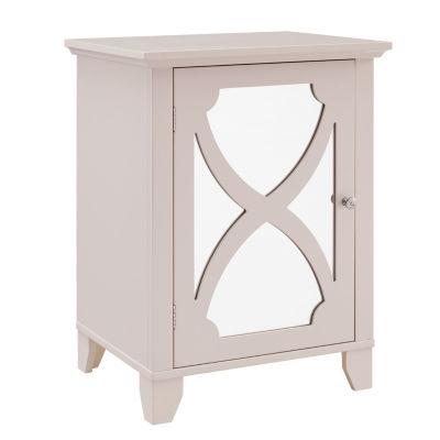 Winter Small Mirror Door Accent Cabinet
