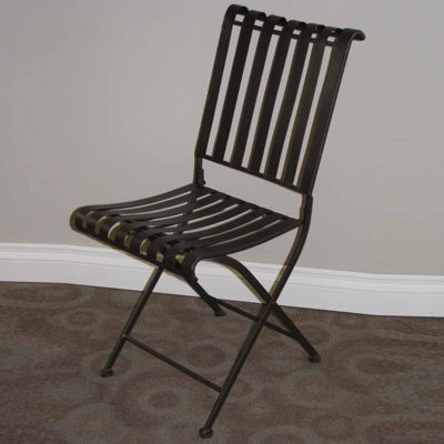 4D Concepts Rounded Metal Folding Chair - Set of 2