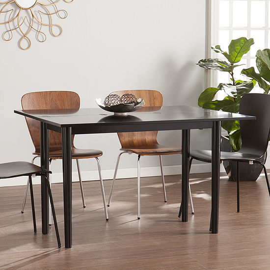Wooden Door Kitchen Flip Top Convertible Console to Dining Table