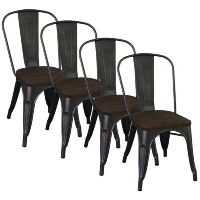 Modus Industrial Style Side Chair- Set of 4