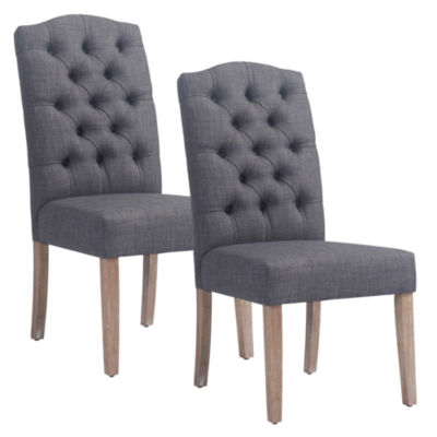 Lucian Button Tufted Side Chair- Set of 2