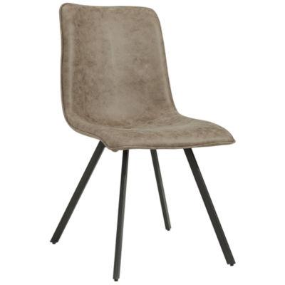 Buren Faux Suede Side Chair- Set of 2