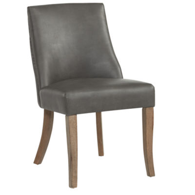 Alton Faux Leather Side Chair- Set of 2