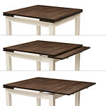 "CorLiving Dillon Extendable Wood Top Dining Table with Two 8"" Leaves"