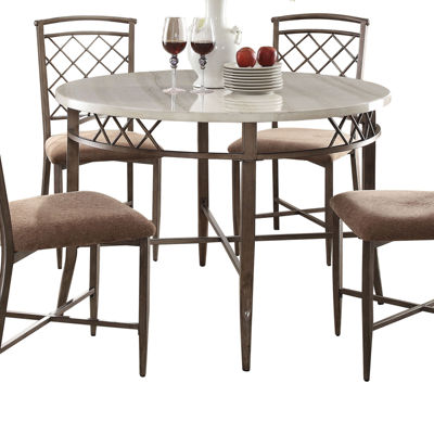 Aldric Faux Marble-Top Dining Table