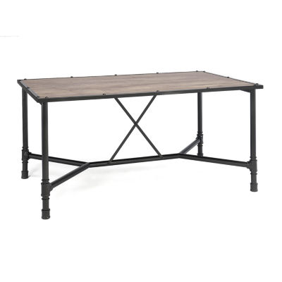 Caitlin Wood-Top Dining Table