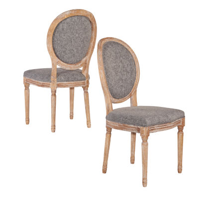 Manchester Oval Back Set of 2 Dining Chairs