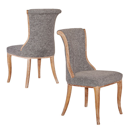 Sheffield Flared Back Set of 2 Dining Chairs