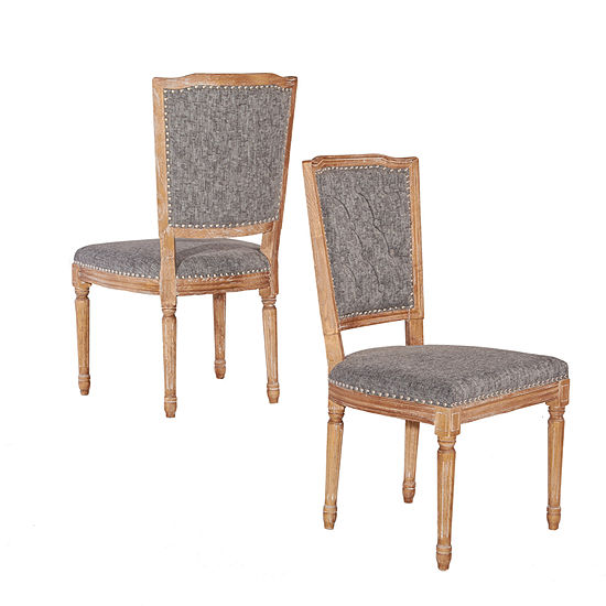 Nottingham Square Back Set of 2 Dining Chairs