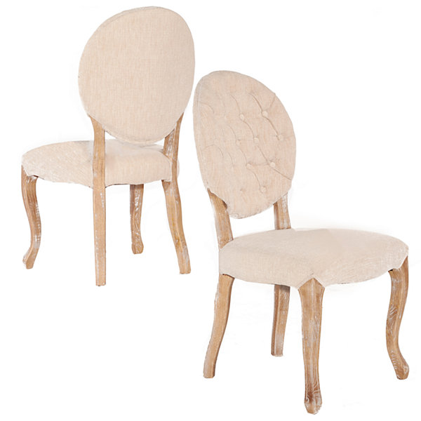 Bradford Oval Back Set of 2 Dining Chairs