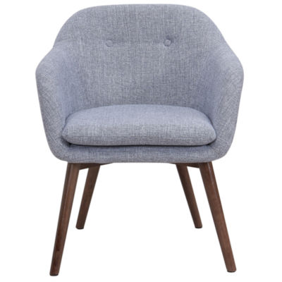 Minto Mid Century Textured Fabric Side Chair
