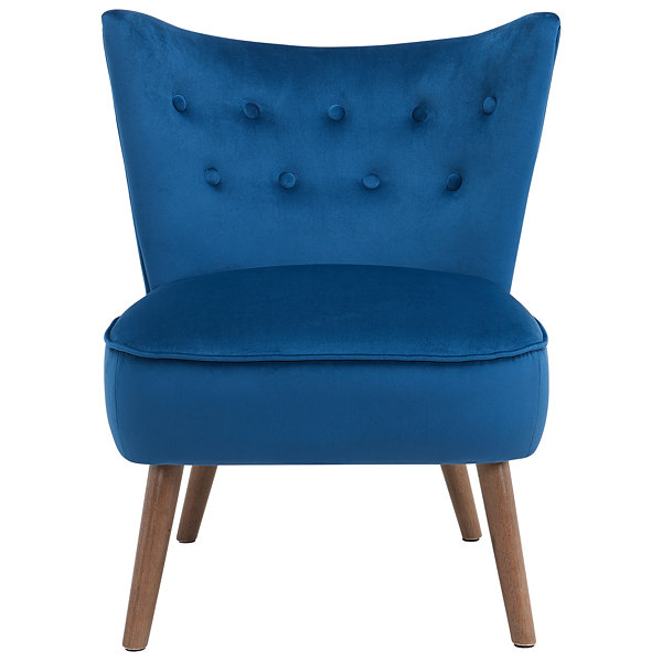 Elle Mid Century Velvet Accent Chair
