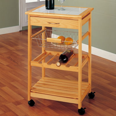 Neu Home Kitchen Cart with Basket