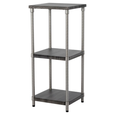 Home Zone® 3-Tier Adjustable MDF Narrow Shelving System