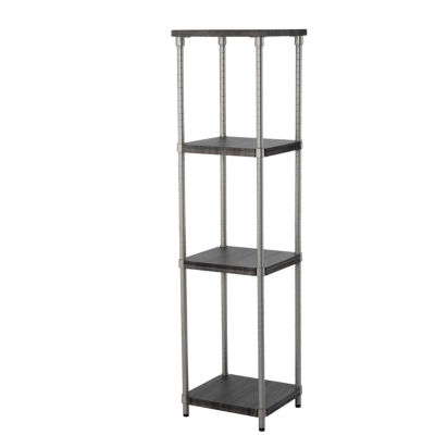 Home Zone® 4-Tier Adjustable MDF Narrow Shelving System