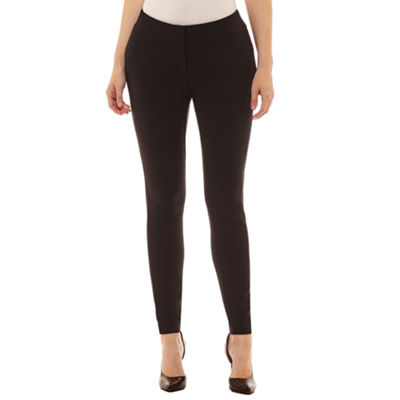 Worthington Curvy Fit Luxe Stretch Slim Leg Pants