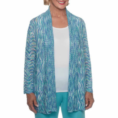 Alfred Dunner Bonita Springs Long Sleeve Open Front Cardigan