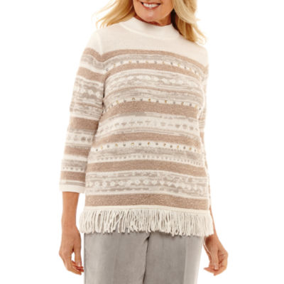 Alfred Dunner Eskimo Kiss Long Sleeve Layered Sweaters