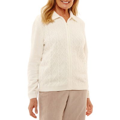 Alfred Dunner Eskimo Kiss Long Sleeve Cardigan