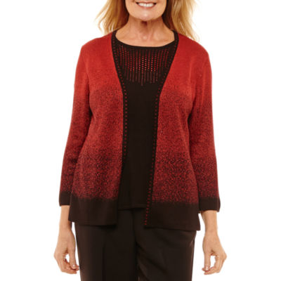 Alfred Dunner Embellished Layered Sweater