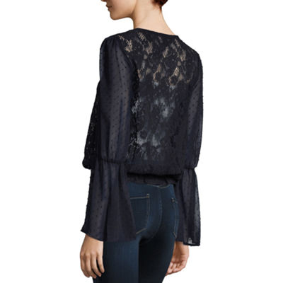 Lone+Lux Ruffle Sleeve Lace Top