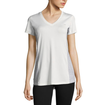 Copper Fit Short Sleeve V Neck T-Shirt-Womens