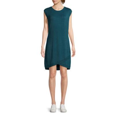 Scarlett Sleeveless Knit Envelope Hem Dress