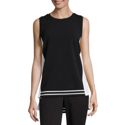 Worthington® Sleeveless Top With Tipping