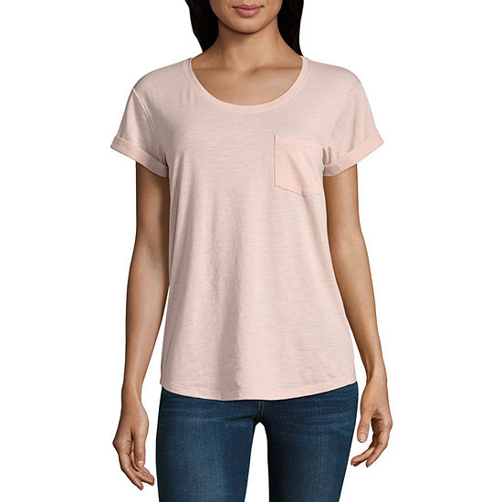 68c45ab20a64 ana Pocket Tee Solids JCPenney