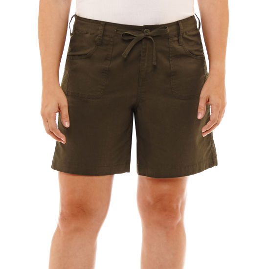 "St. John's Bay Sjb Embroidered Cargo Short 5"" Classic Fit Poplin Cargo Shorts"