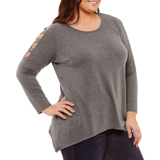 Alyx Long Sleeve Round Neck T-Shirt - Plus