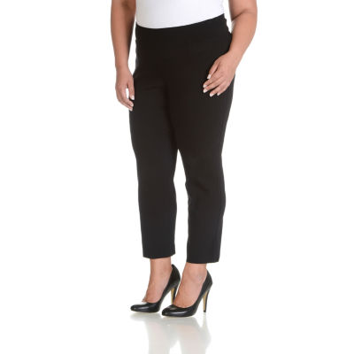 Larry Levine Side Pocket Millennium Pants - Plus