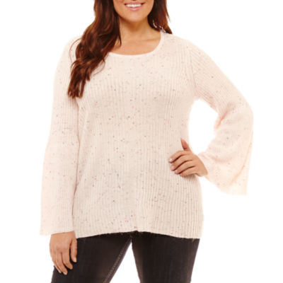 By Artisan Long Sleeve Crew Neck Pullover Sweater-Plus