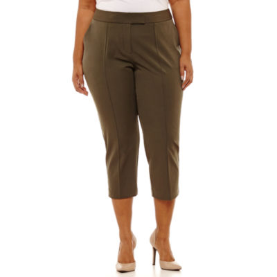 Worthington Cropped Straight Leg Pants - Plus