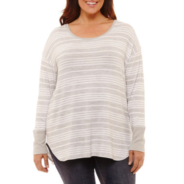 Liz Claiborne Long Sleeve Tee- Plus
