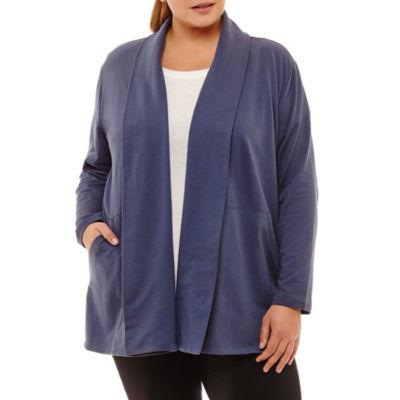 Xersion Long Sleeve Cardigan - Plus