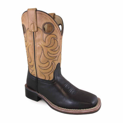 Smoky Mountain Kid's Jesse Bomber Leather Cowboy Boot