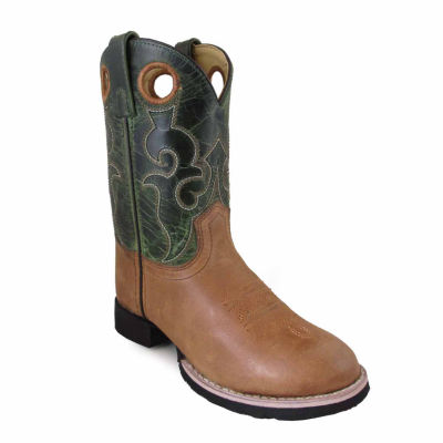 Smoky Mountain Kid's Rick Waxed Crackle Leather Cowboy Boot