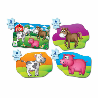 The Learning Journey My First Puzzle Sets  4-In-A-Box Puzzles - Farm